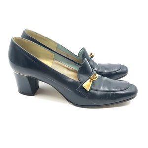 "Vintage ""Balenciaga"" Navy Blue Block Heel (7.5N)"